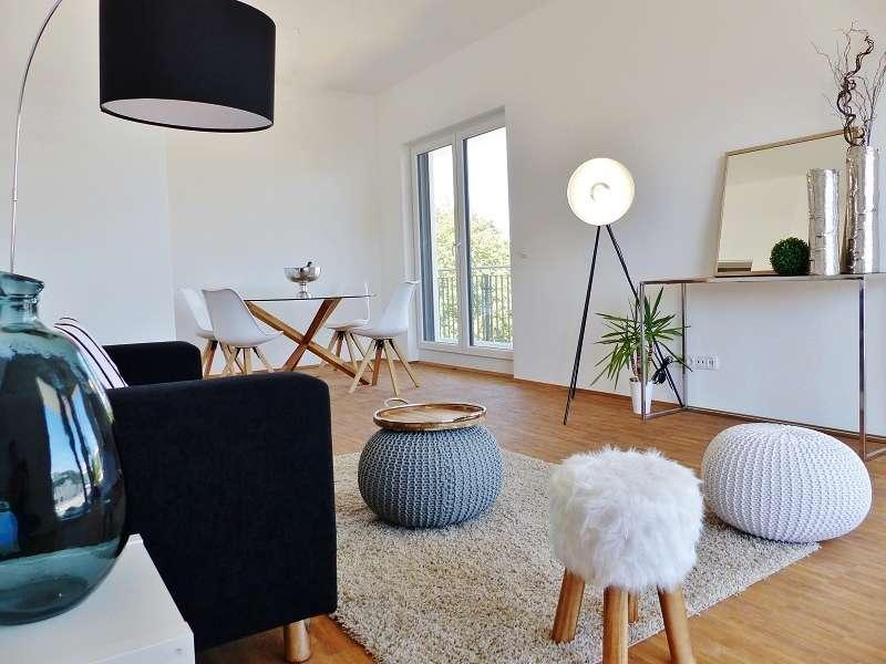 Der Raum nach dem Homestaging: freundlich und hell